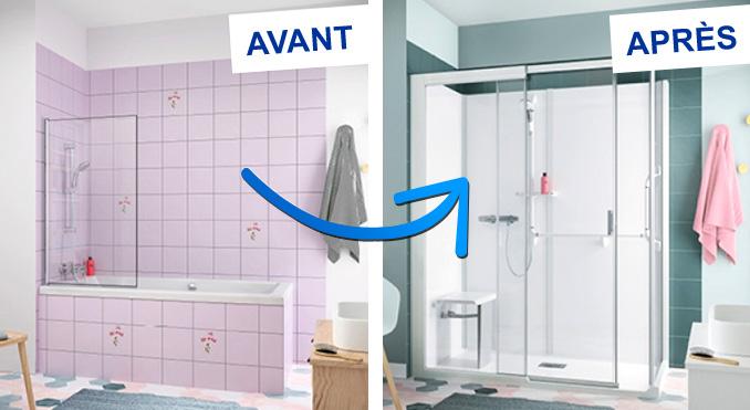 plombier-auxerre-remplacement-de-douche-par-une-baignoire-avant-apres