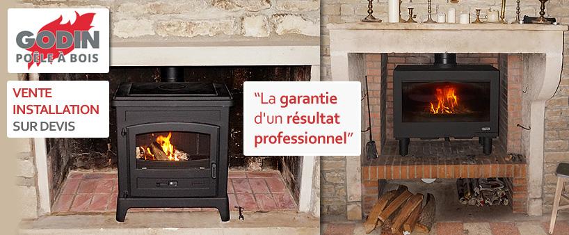 installation-poele-bois-godin-dans une-cheminee-auxerre-yonne-89